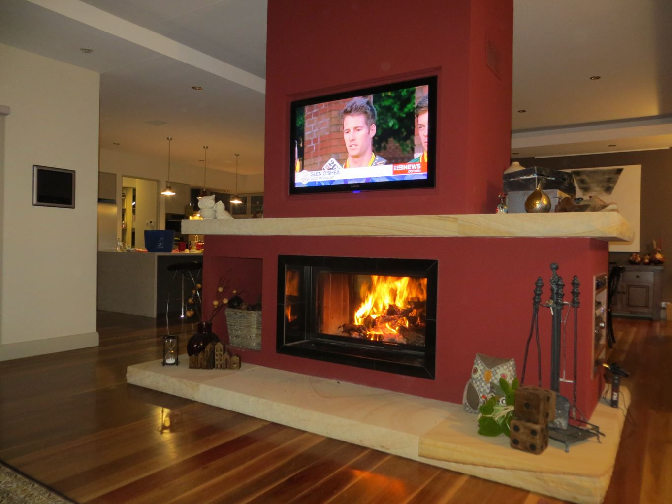 Double Sided Wood Amp Gas Fireplace Sydney Chazelles