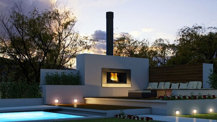 Admirable Modern Outdoor Wood Gas Fireplaces Chazelles Fireplaces Home Remodeling Inspirations Basidirectenergyitoicom